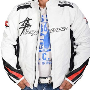 suzuki-hayabusa-white-motorcycle-leather-jacket