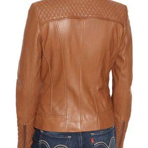 Designer Womens Brown Motorcycle Jacket