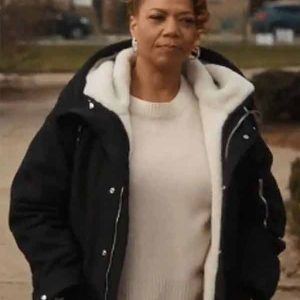 Queen-Latifah-The-Equalizer-Ep4-Black-Shearling-Coa
