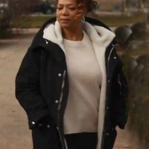 The-Equalizer-Queen-Latifah-Black-Shearling-Coat