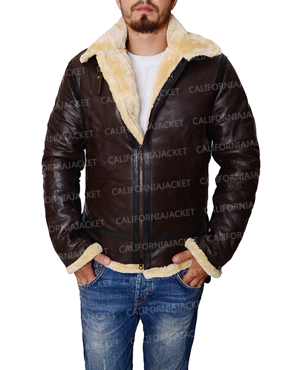 Tom Hardy Dunkirk Brown Leather Farrier Jacket