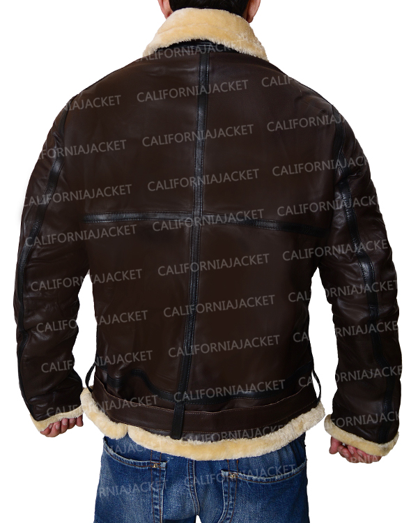 Tom Hardy Dunkirk Brown Leather Jacket