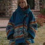 Yellowstone-Blue-Wool-Blend-Beth-Dutton-Blanket-Coat