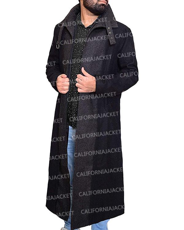 altered carbon takeshi kovacs joel kinnaman black wool coat