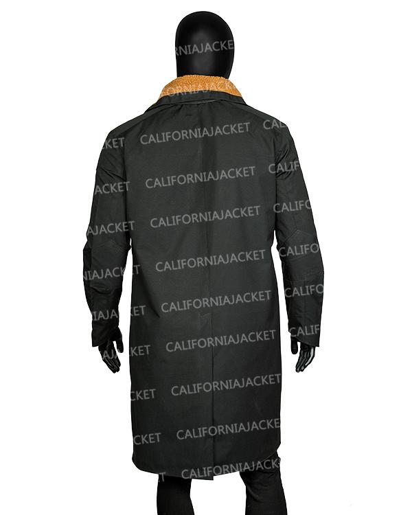 blade runner 2049 officer k trench shearling coat