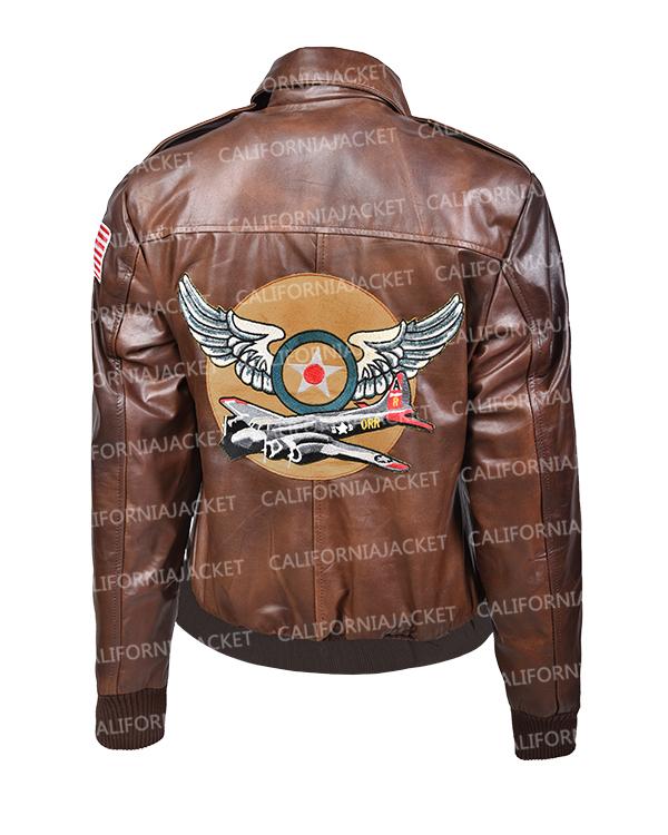 captain marvel brown leather jacket
