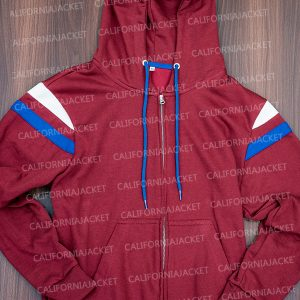 elizabeth olsen wandavision 2021 wanda maximoff maroon hoodie