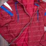 elizabeth olsen wandavision 2021 wanda maximoff maroon zipper hoodie