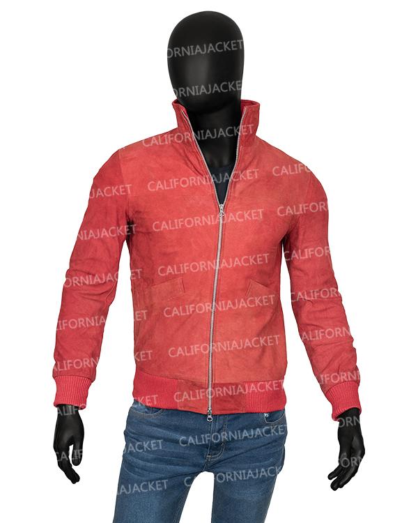 mens-orange-suede-leather-jacket