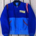 pastelle kanye west blue letterman jacket