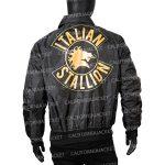 rocky 3 italian stallion sylvester stallone black zipper jacket
