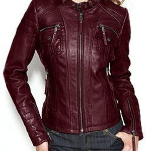 womens-burgundy-biker-leather-jacket