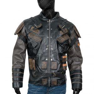 The Suicide Squad 2021 Pete Davidson Leather Blackguard Jacket