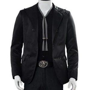 crowley good omens black blazer