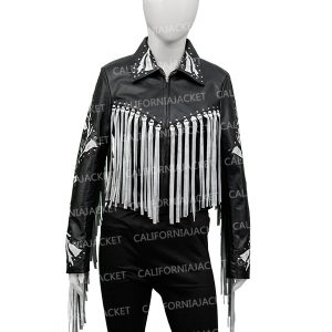 harley quinn birds of prey fringe jacket