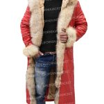 kurt russell the christmas chronicles santa claus trench coat
