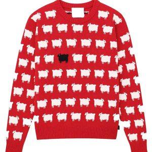 princess-diana-black-sheep-red-sweater