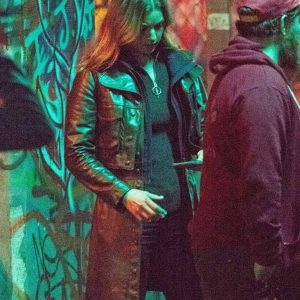 sharon carter the falcon and the winter soldier emily vancamp black leather jacket