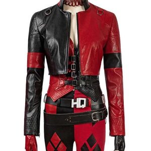 the-suicide-squad-harley-quinn-red-leather-jacket