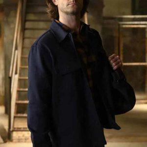 walker jared padalecki black jacket