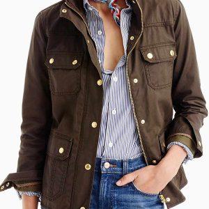 women's spring dark brown jacket