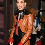 zola-riley-keough-brown-leather-jacket