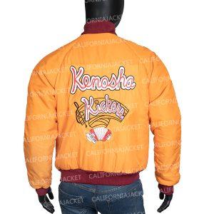 Home Alone Kenosha Kickers Yellow Satin Jacket
