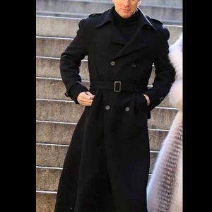 ewan mcgregor halston black wool coat