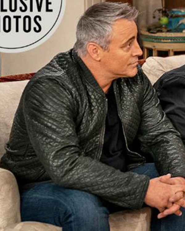 friends the reunion matt leblanc quilted leather jacket