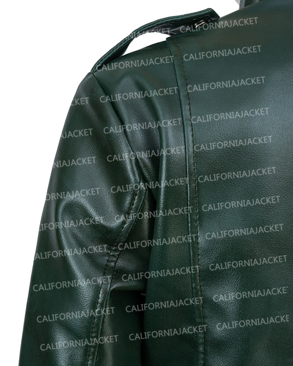 green-moto-leather-jacket