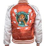karen-gillan-gunpowder-milkshake-orange-satin-jacket