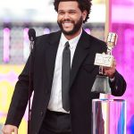 the weeknd save your tears billboard music awards 2021 black wool trench coat