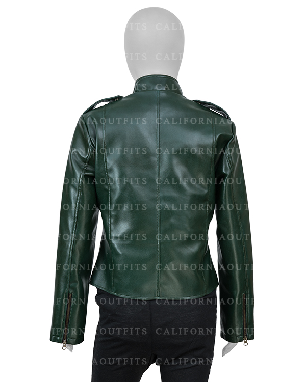 womens-green-moto-leather-biker-jacket