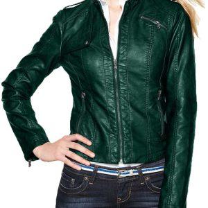 womens-green-moto-leather-jacket