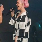 Anne-Marie-Our-Song-Plaid-Black-And-White-Jacket