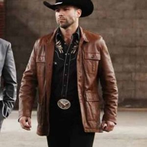 Queen-of-the-South-S05-Rafael-Amaya-Brown-Leather-Jacket