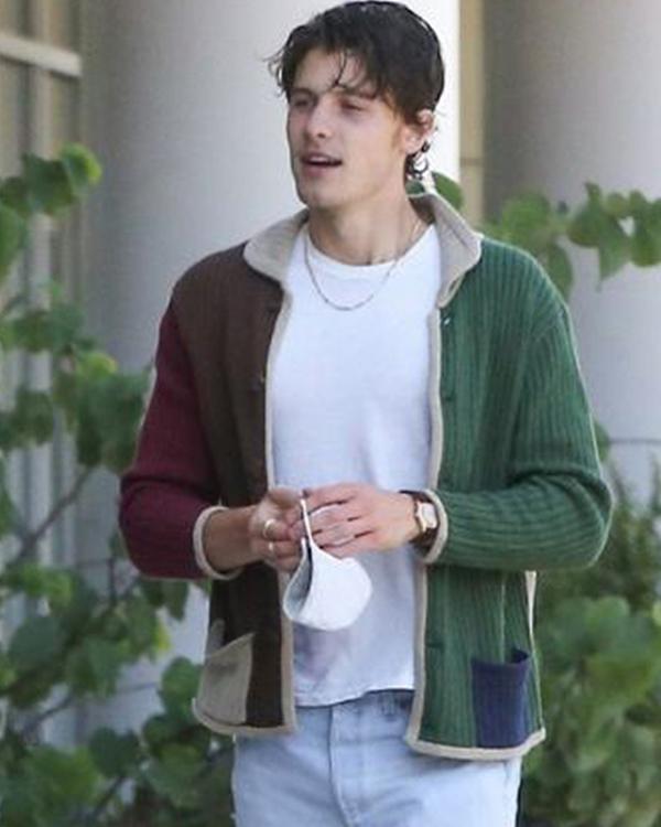 Shawn Mendes Wool Multi Color JacketFor Men