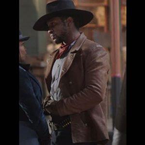 The-Harder-They-Fall-Jonathan-Majors-Brown-Jacket