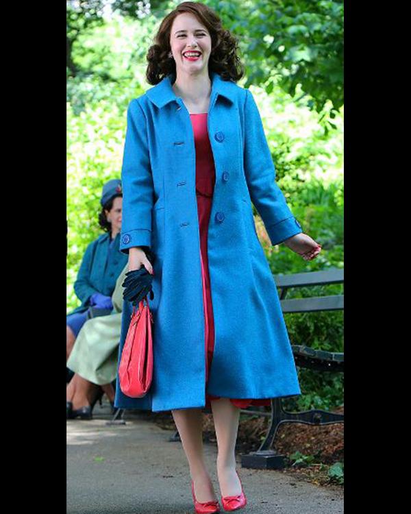 The Marvelous Mrs. Maisel SO4 Rachel Brosnahan Blue Coat