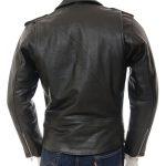 kanye west biker style black leather jacket