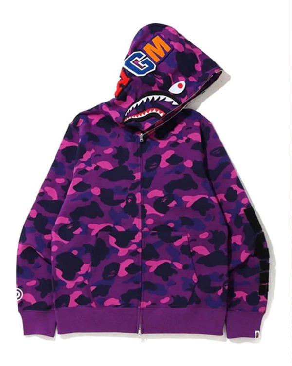purple Color Bape Hoodie