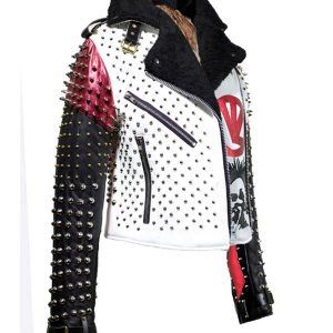 studded and spikes leather jacket