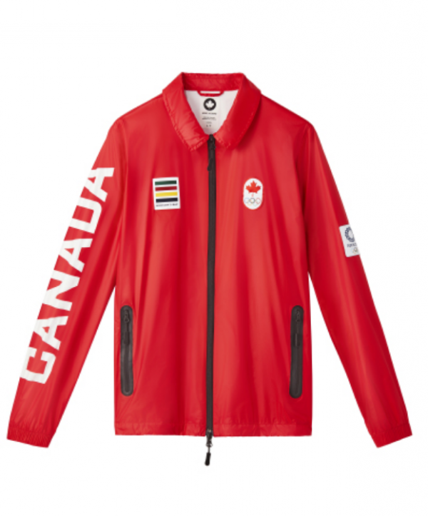 Olympic 2021 Canada Red Leather Jacket