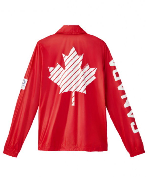Olympic 2021 Red Leather Jacket