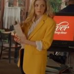 A Little Daytime Drama Jen Lilley Yellow Blazer
