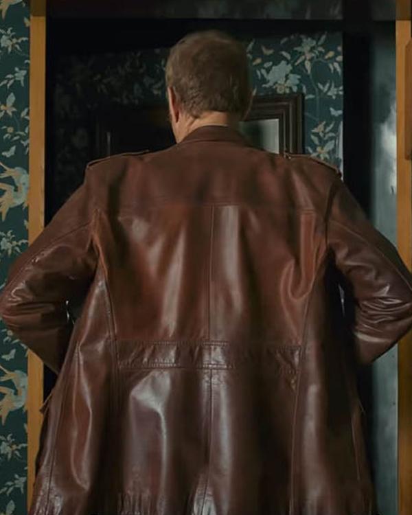 The Last Mercenary Van Damme Brown Leather Jacket