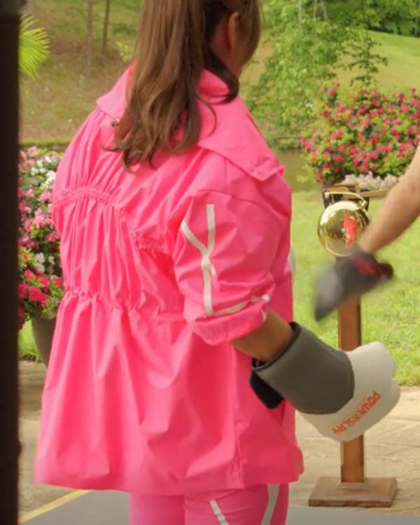 Cristal Jennings Dynasty Daniella Alonso Half-Zip Pink Jacket