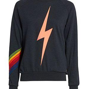 The Real Housewives of Salt Lake City Lisa's navy lightning bolt sweatshirt