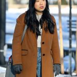 Awkwafina is Nora From Queens Camel Trench Coat
