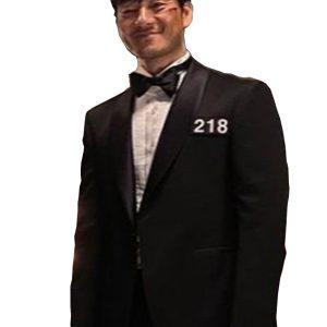 Squid Game Black Tuxedo Suit